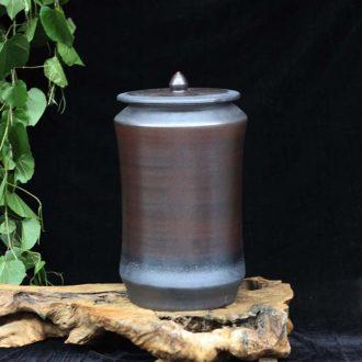 Jingdezhen 30 jins brunet ceramic porcelain storage tank spire straight ceramic storage tank