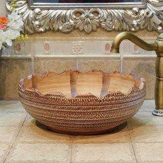Jingdezhen JingYuXuan ceramic wash basin stage basin sink basin basin basin falbala jump cut art