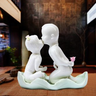 Jingdezhen ceramics characters in one hundred good wine TV ark bedroom home decoration handicraft furnishing articles in the living room