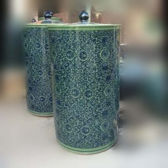 Archaize of jingdezhen porcelain straight tank 50 cm high porcelain installed meters pot environmental loading tea meters