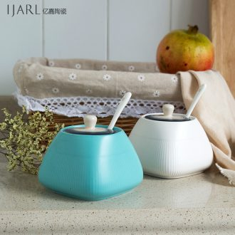 Ijarl million jia seasoning boreal Europe style ceramic GuanPing with cover seasoning bottles only