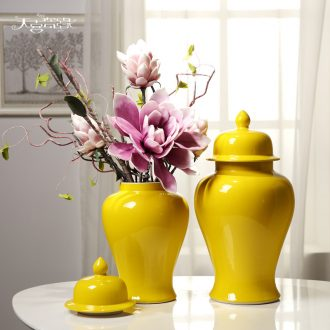 New Chinese style porch jingdezhen ceramic general tank sitting room clubhouse TV ark place decorative vase flower arrangement