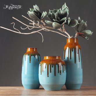 Contemporary and contracted ceramic vase furnishing articles fashionable sitting room flower arranging dried flowers, TV ark wine home decoration