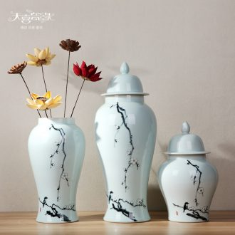 Jingdezhen hand-painted ceramic general storage tank European creative contemporary household example room decoration ornaments