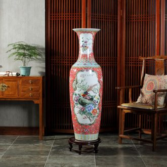 Jingdezhen ceramics powder enamel package of large vase post hotel opening gifts sitting room adornment is placed