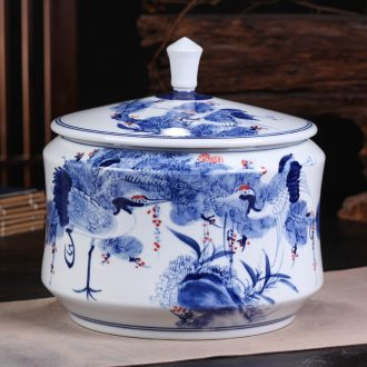 Jingdezhen ceramic seven bread pu 'er tea gift box packaging general tea caddy jar airtight storage tank