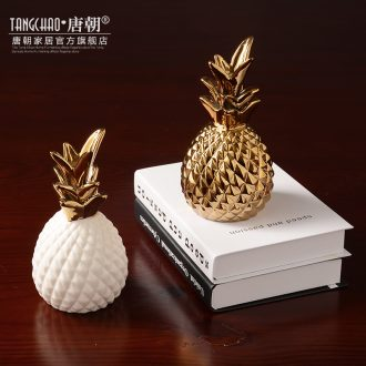 Tang dynasty furniture creative ceramic pineapple furnishing articles of contemporary and contracted Nordic bedroom room wine sitting room adornment