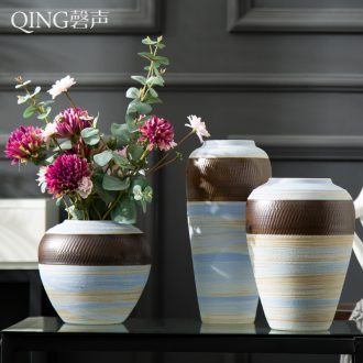 Modern home decoration ceramic vase furnishing articles contracted dried flowers floral arrangements sitting room creative flower arranging ceramic POTS