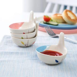 Ijarl household ceramics serving Japanese tableware vinegar dish of soy sauce dish taste dish plate creative snack plate