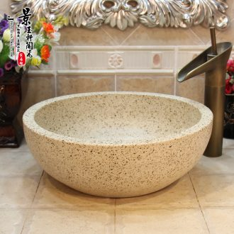 JingYuXuan jingdezhen ceramic art basin basin sinks the sink basin basin that wash a face scrub star on stage