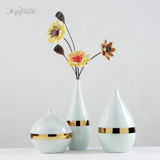 Creative Japanese zen ceramic vase modern Nordic home sitting room TV ark of flower arranging wine adornment furnishing articles