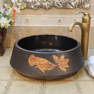 JingYuXuan jingdezhen ceramic lavatory basin art basin sink the stage basin admiralty bergamot