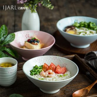 Ijarl million jia hand-painted ceramic la rainbow noodle bowl Japanese malatang commercial dish bowl bowl of beef noodles in soup bowl dessert salad bowl