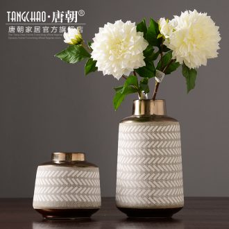 Tang dynasty household Nordic flower arranging ceramic vases, contemporary and contracted sitting room dried flowers restore ancient ways furnishing articles table decorations