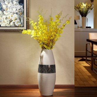 Jingdezhen ceramic creative of large sitting room of contemporary and contracted fashion vase dried flowers, TV ark furnishing articles