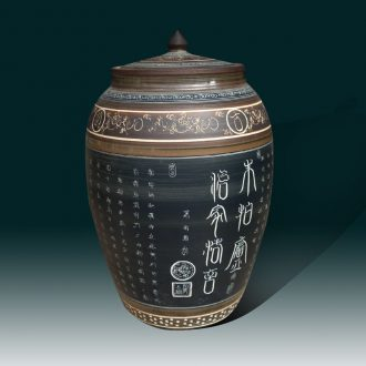Functional ceramic porcelain jingdezhen life cover Chinese ancient classical ceramic meters pot storage tank
