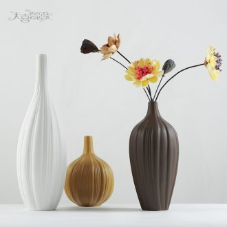 Nordic contracted ceramic vase zen household act the role ofing is tasted the sitting room TV cabinet example room decoration furnishing articles flower arrangement