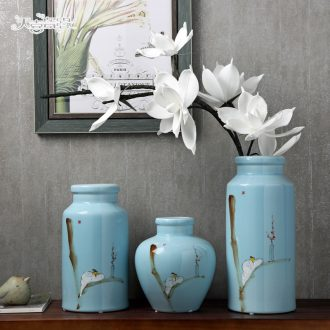 Jingdezhen ceramic vases, contemporary and contracted style of new Chinese style living room TV ark furnishing articles household flower adornment