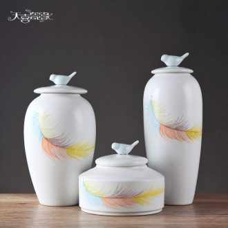 Modern new Chinese style ceramic vase furnishing articles storage tank between example TV ark creative the sitting room porch decoration
