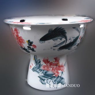 High-grade environmental ceramic porcelain VAT high raise fish a goldfish bowl lotus pond lily ceramic porcelain crock