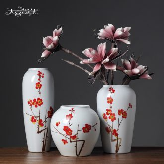 Jingdezhen contemporary and contracted ceramic vase furnishing articles creative living room TV cabinet table flower arranging, home decoration