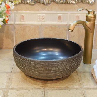 JingYuXuan jingdezhen ceramic lavatory basin art basin sink the stage basin small black thread