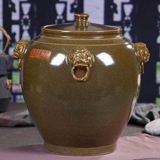 Jingdezhen ceramics big barrel caddy sealed jar furnishing articles storage tank porcelain jar sugar sugar bowls ornaments
