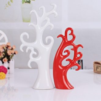 Contemporary and contracted fashion ceramic arts and crafts home furnishing articles sitting room adornment fashion wedding gift love trees
