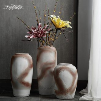 Jingdezhen modern ceramic vase landing hotel club house sitting room dry flower arranging TV ark home furnishing articles POTS