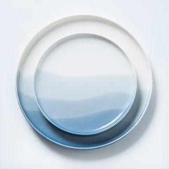 Creative household Japanese web celebrity tableware ceramics big plate plates dish plate of pasta beefsteak breakfast tray