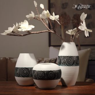 Contemporary and contracted three-piece ceramic vase in the living room TV ark wine home decoration handicraft furnishing articles