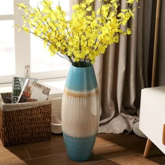 Jingdezhen modern creative household act the role ofing is tasted dry flower arrangement sitting room ground vase big European hotel ceramic furnishing articles