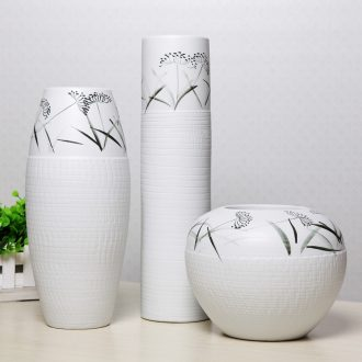 Jane the adornment style of modern home furnishing articles handicraft ceramic flower arranging flowers, three-piece vase decoration