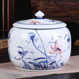Jingdezhen ceramics pu 'er tea cake tin large general seal pot of tea packaging gift box