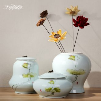 Jingdezhen ceramic vase storage tank model of new Chinese style living room porch creative home furnishing articles ornament