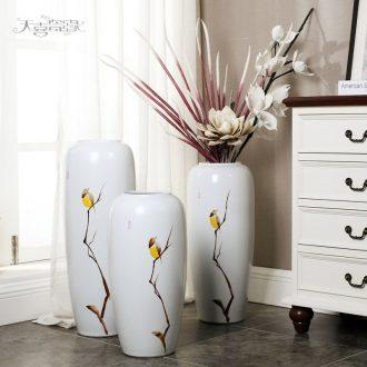 European ceramic vase of large modern creative living room TV cabinet household soft adornment flower art flower arranging furnishing articles