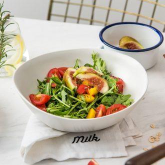 Million jia Nordic ins wind ceramic tableware fruit salad bowl single lovely breakfast household vegetable bowl of ikea