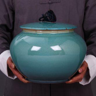 Jingdezhen ceramic tea sealed cans gm caddy large-sized puer tea cake tin with storage tank tea urn