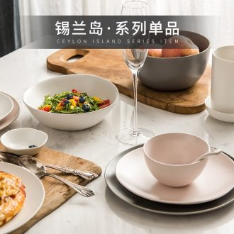 Ijarl million fine ceramics meters large bowl dessert pudding bowl bowl noodles bowl dishes dishes Ceylon island