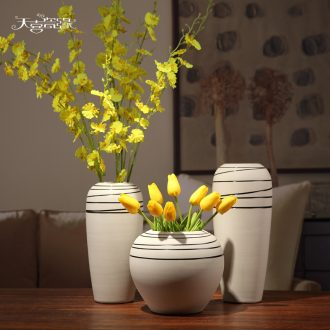 Contracted and contemporary sitting room furniture creative ceramic coarse pottery hydroponic furnishing articles fashion TV cabinet table dry vase