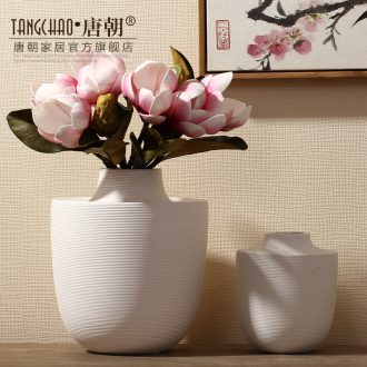 The tang dynasty white ceramic flower vases furnishing articles contemporary and contracted fashion household soft adornment sitting room office