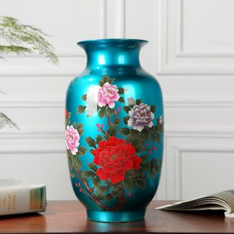 Jingdezhen ceramics flower vase wine TV ark desk sitting room place crystal glaze decoration arts and crafts