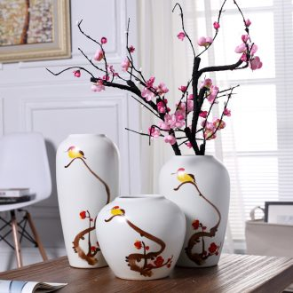 Modern new Chinese style ceramic vase creative living room TV cabinet furnishing articles wine household soft adornment flower arrangement