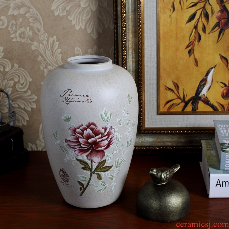 European American rural household soft adornment ceramic storage tank is the sitting room porch window wine between example furnishing articles