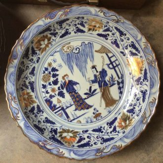 Jingdezhen hand-painted imitation of the yuan dynasty blue-and-white porcelain porcelain paint ceramic plate archaize ceramic household of Chinese style furnishing articles