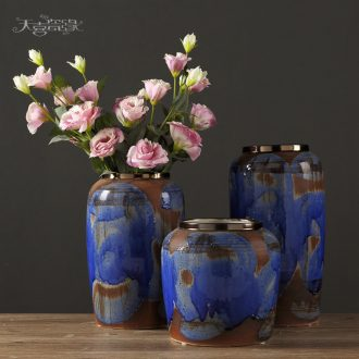 Jingdezhen creative European ceramic vases, contemporary and contracted sitting room flower arranging, American home decoration arts and crafts