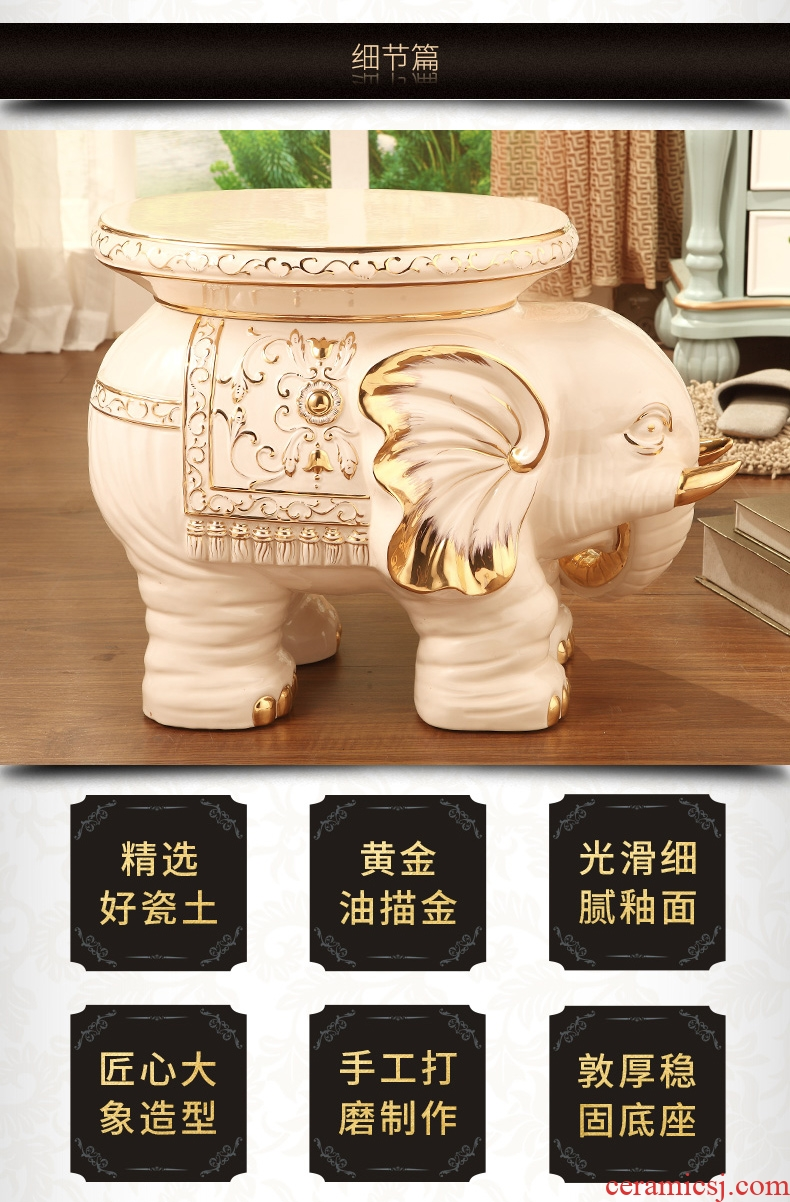 Vatican Sally's ceramic elephant in shoes stool luxurious sitting room porch european-style decorative furnishing articles housewarming gift