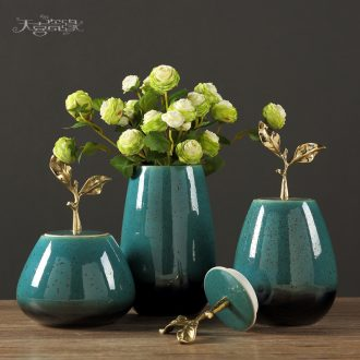 European contemporary sitting room place American household ceramic vase of dry flower arrangement table decoration porch decoration