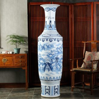 Jingdezhen ceramics hand-painted porcelain vase bag mail to the ground 1.8 meters big hotel lobby sitting room adornment is placed
