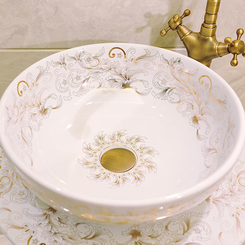 Ceramic basin of pillar type lavatory floor toilet pillar one-piece balcony column basin sinks
